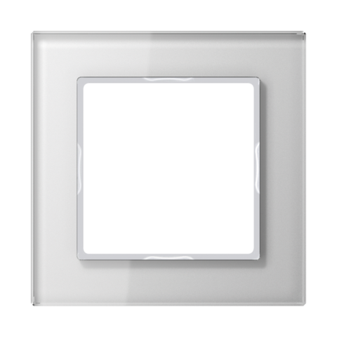 Рамка на 1 пост. Цвет Белый. JUNG A CREATION. AC581GLWW