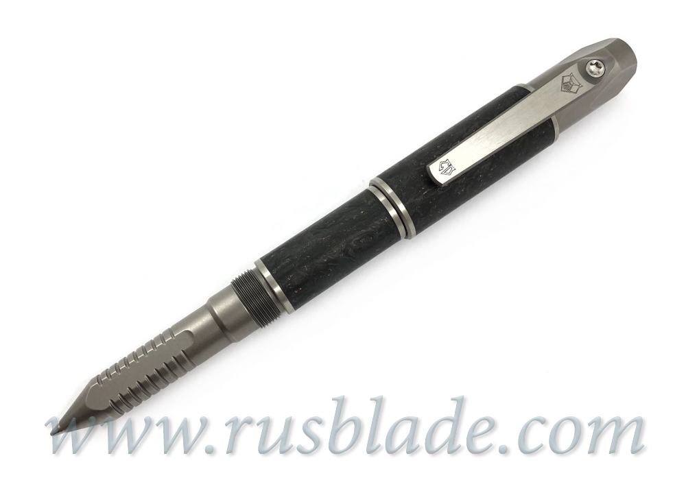 Shirogorov 2019 Pen Screwdriver Custom Division Copper Accent Marbled CF - фотография