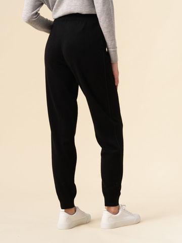 Женские брюки черного цвета из 100% кашемира - фото 3