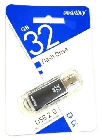 Флеш-накопитель USB  32GB  Smart Buy  V-Cut  чёрный