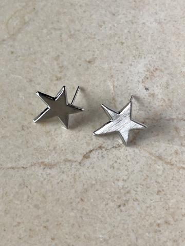 Серьги Алиота, серебряный цвет
