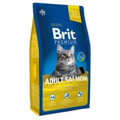3841 Brit Premium Cat Adult Salmon д/взрослых кошек с Лососем 1,5кг*10
