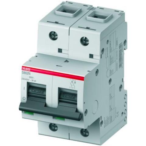 Автоматический выключатель 2-полюсный 40 А, тип C, 20 кА S802N C40. ABB. 2CCS892001R0404