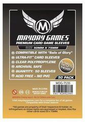Протекторы для настольных игр Mayday Premium Sails of Glory (50x75) - 50 штук