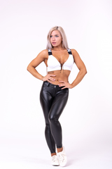 Женский топ Nebbia lace-up sport bra 694 white