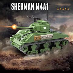 Конструктор серия Армия Основной средний танк США Шерман M4A1