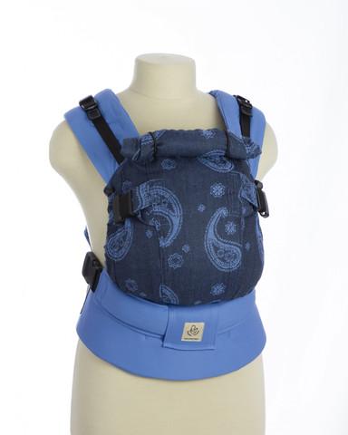 Эрго-рюкзак Мини-люкс пейсли темные голубой
