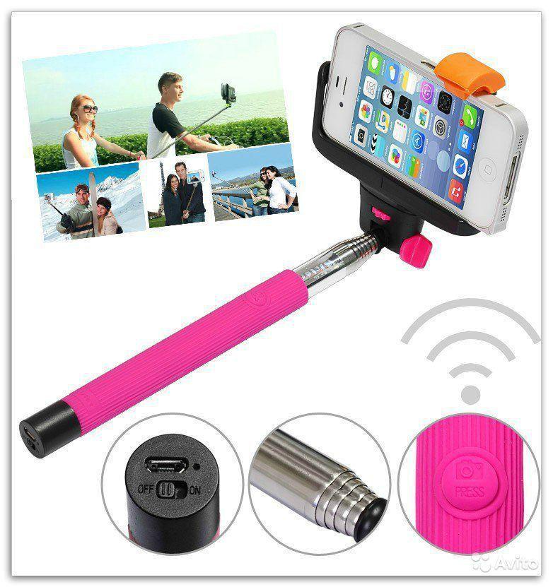 Товары на Маркете Палка для селфи Selfie Stick с кнопкой bluetooth монопод.jpg