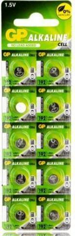 Элемент питания GP 192 (AG3/LR41)-BC10 1/25
