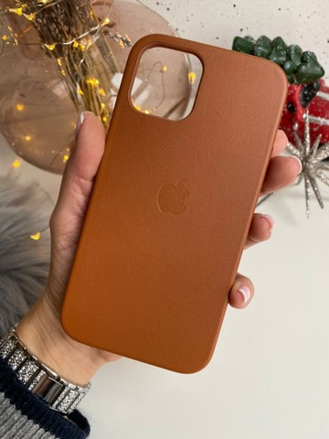 Чехол iPhone 12 Mini Leather Case with MagSafe /saddle brown/