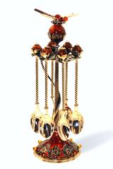 """Набор из 6 серебрянных чайных ложечек на янтарной подставке, серия """"Летнее настроение"""""""