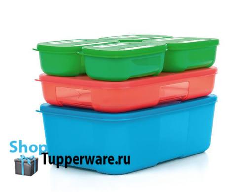 набор контейнеров система холодильник 140мл-4шт, 650мл, 1,5л. tupperware