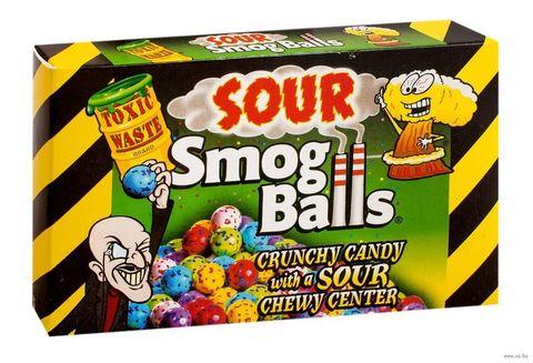 Кислые драже Toxic Waste Smog Balls box 85 гр