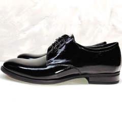 Черные лаковые туфли классические мужские Ikoc 2118-6 Patent Black Leather.