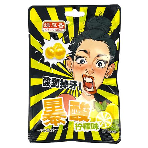 Конфеты кислые Green Grass со вкусом лимона 22 гр