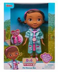 Доктор Плюшева, кукла Дотти (голубой халат) уценка, упаковка