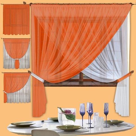 Комплект штор Белла (оранжевый)