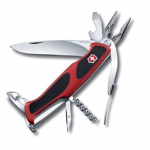 Нож перочинный Victorinox RangerGrip 74 (0.9723.CB1) 130мм 14функций красный/черный блистер