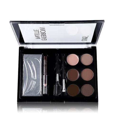Набор для экспресс коррекции бровей Coopwins I Love Makeup 6 цветов.