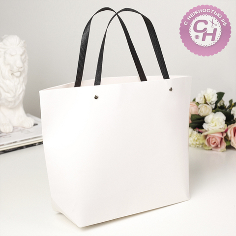 Пакет крафт-сумка с ручками, 41*28*12 см, 1 шт.