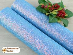 Мелкая россыпь на тканевой основе голубая
