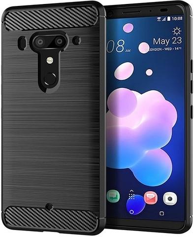 Чехол для HTC U12 Plus (Exodus 1) цвет Black (черный), серия Carbon от Caseport