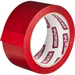 Скотч клейкая лента упаковочная Attache красная 48 мм x 66 м толщина 45 мкм