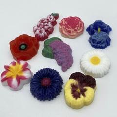 Пластиковая форма для шоколада бол. ЦВЕТОЧНОЕ АССОРТИ №1 (диаметр цветов 50мм)
