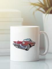 Кружка с рисунком Кадиллак (Cadillac) белая 004