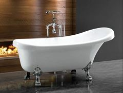 Ванна акриловая Cerutti SPA C-2014 150х75 см комплектация в цвете хром