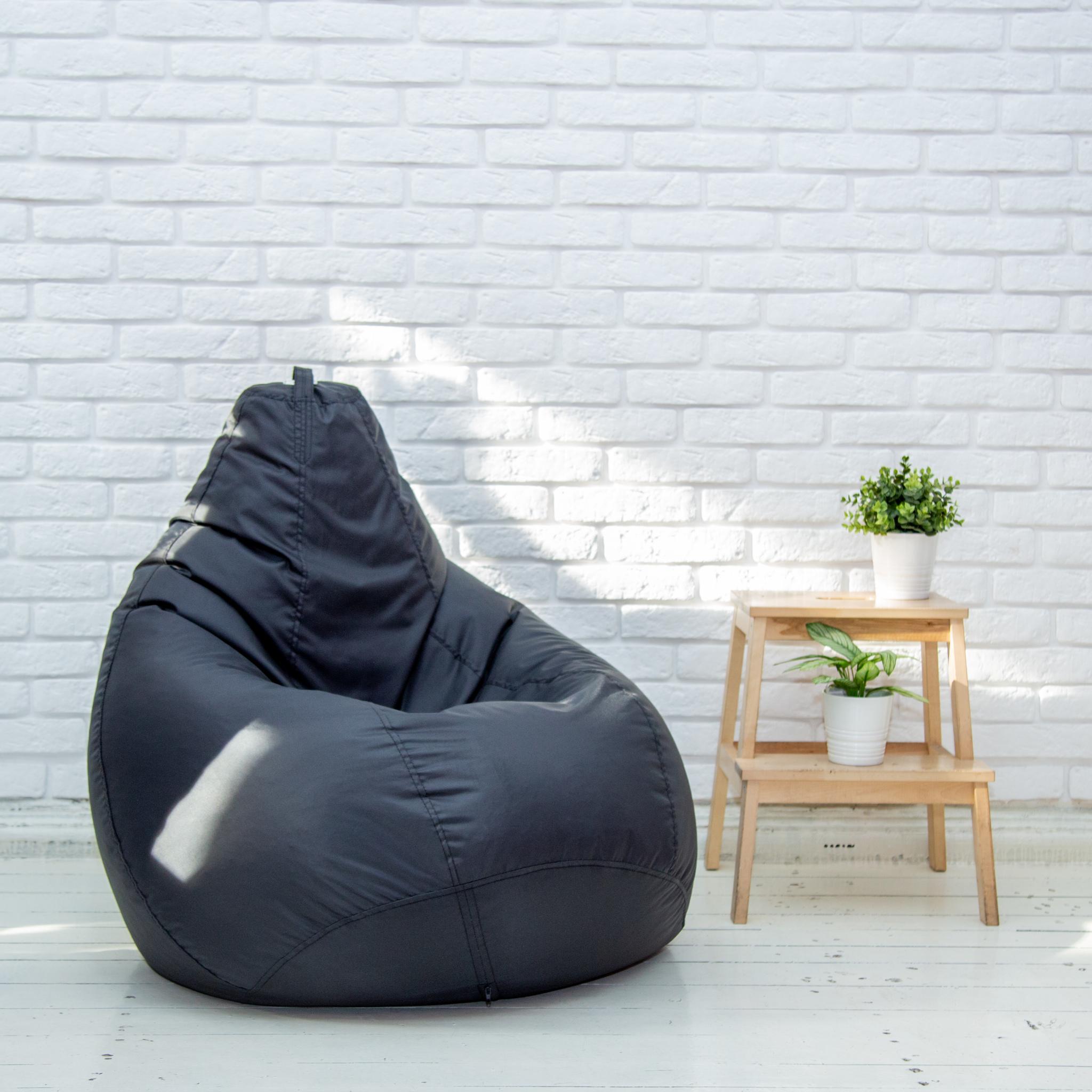 кресло-мешок-груша-черная
