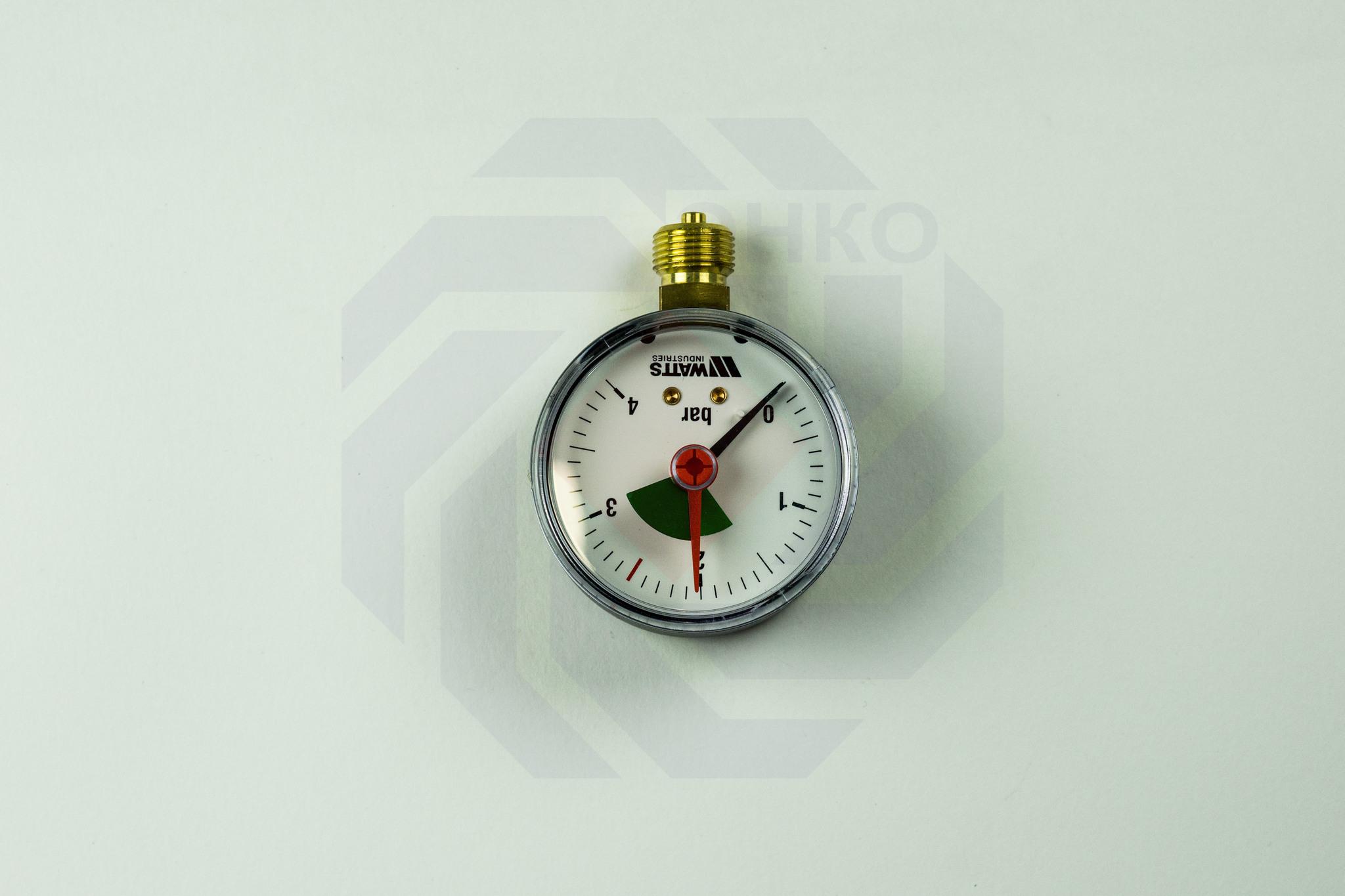 Манометр радиальный WATTS MHR 63/4 (F+R201) 0-4 бар 63 мм ¼