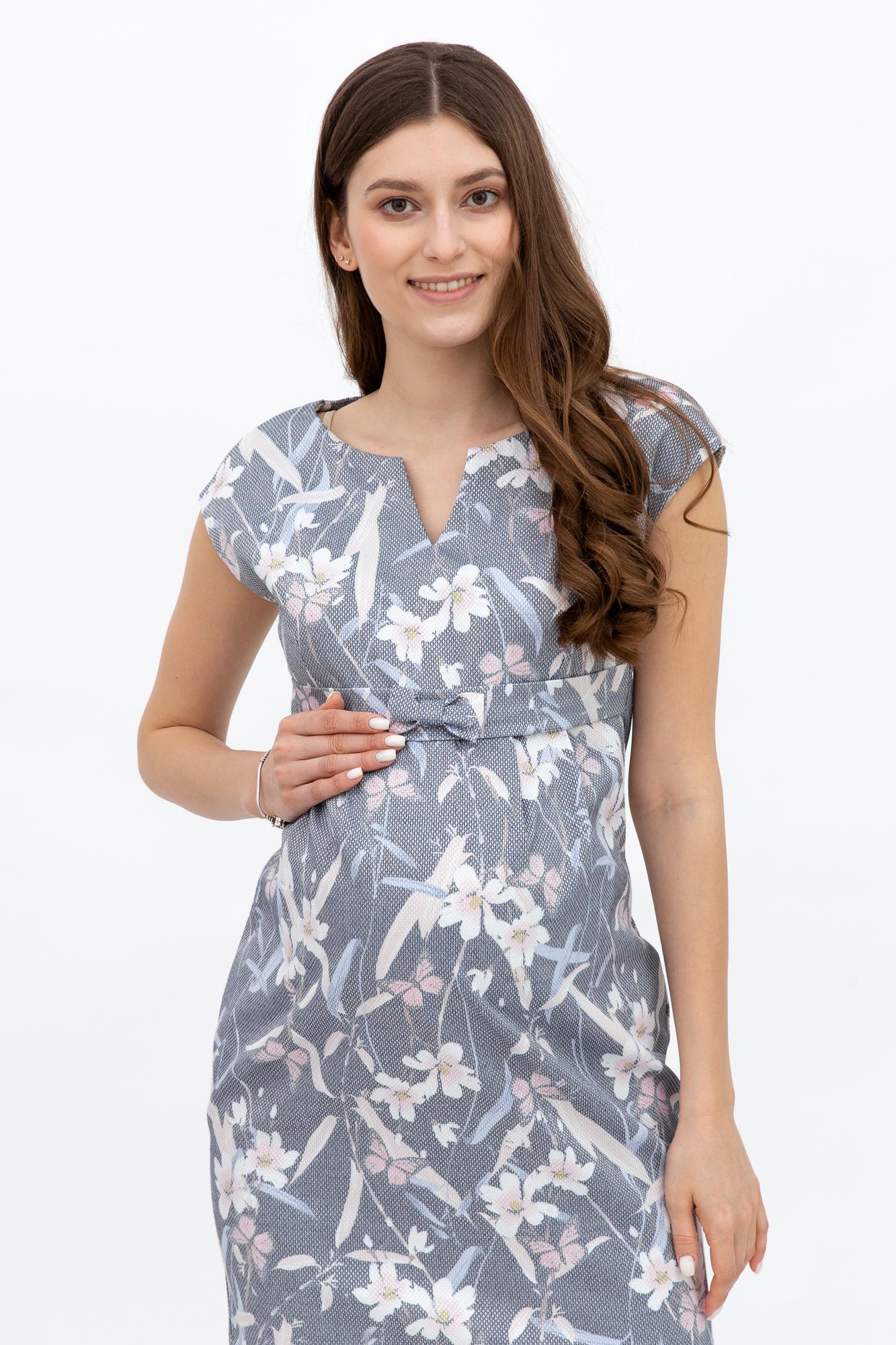 Платье для беременных 09472 серый
