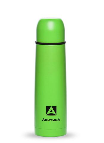 Термос Арктика (0,5 литра) с узким горлом пластиковый корпус, зеленый