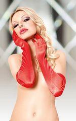 Длинные атласные перчатки