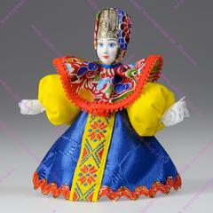 Малая подвесная кукла Крестьянка в платочке