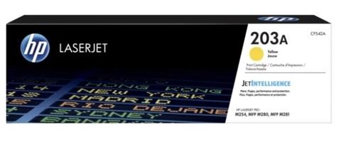 Оригинальный картридж HP CF542A 203A желтый
