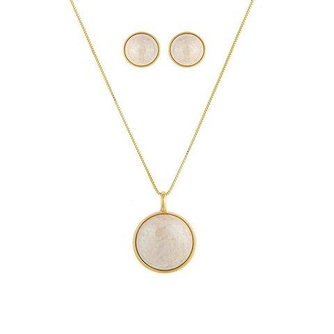 Комплект pearl amazonite beige S1565.12 BR/G