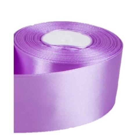 Лента атласная (размер: 50мм х 30м) Цвет:сиреневая