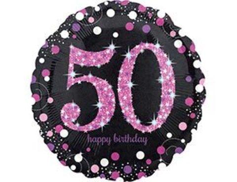 Фольгированный шар HB Sparkling 50 розовый