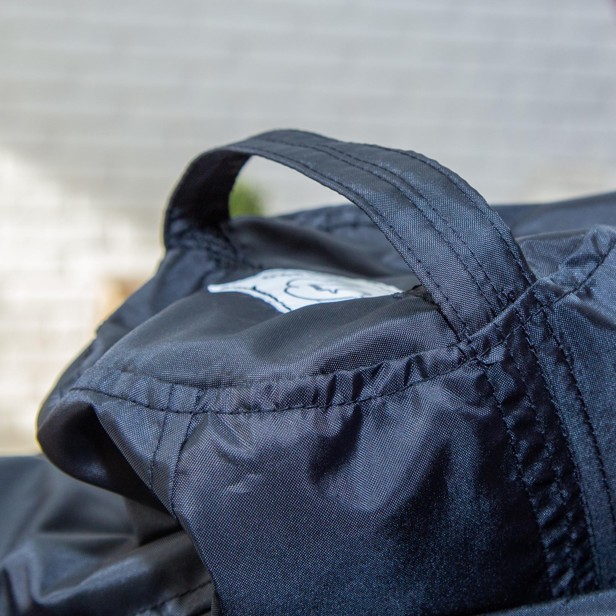 Груша M плащёвка, съёмный чехол (чёрная)