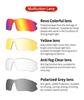 Очки солнцезащитные XQ410, (черно-зелёные / дымчатые) +3 доп. линзы