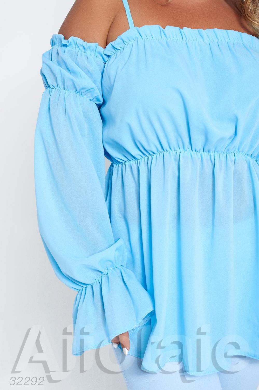 Легкая шифоновая блузка с открытыми плечиками