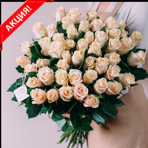 Букет 51 кремовая роза Talea