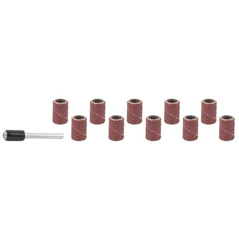 STAYER d=6,25 мм, Р 80/120, цилиндр шлифовальный абразивный, с оправкой, 10шт