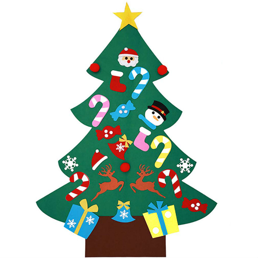 Новогодние подарки Новогодняя елка из фетра с игрушками elka-iz-fetra.jpg