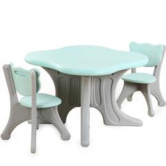 Пластиковый квадратный стол + 2 стульчика