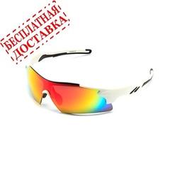 Очки солнцезащитные 2K S-14058-B (белый глянец / красный revo)