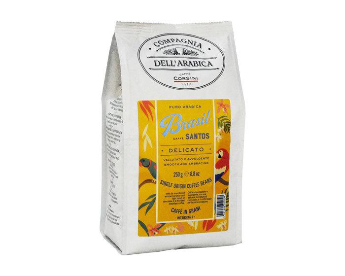 купить Кофе в зернах Compagnia Dell`Arabica Brasil Santos, 250 г