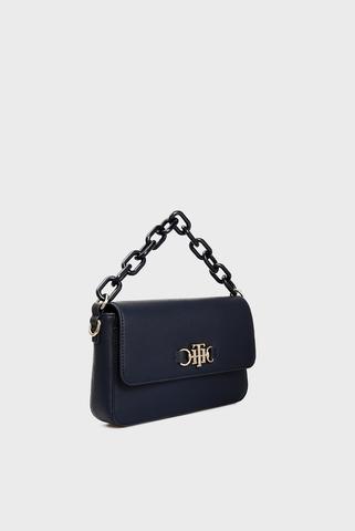 Женская темно-синяя сумка TH CLUB FLAP Tommy Hilfiger